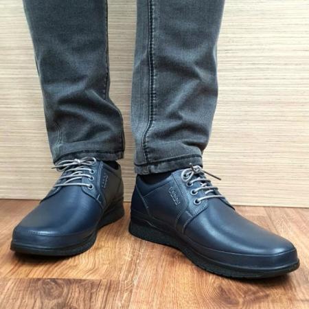 Pantofi Barbati Casual Piele Naturala Bleumarin Alexe B000642