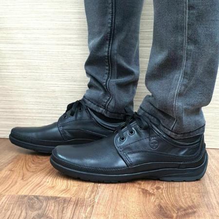 Pantofi Barbati Casual Piele Naturala Negri Iacob B000610