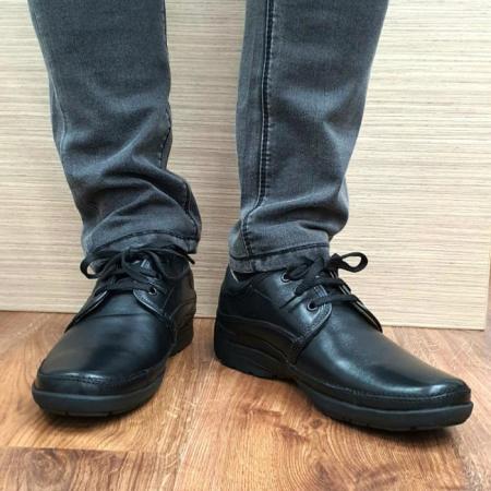 Pantofi Barbati Casual Piele Naturala Negri Iacob B000612
