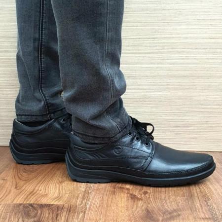 Pantofi Barbati Casual Piele Naturala Negri Iacob B000611