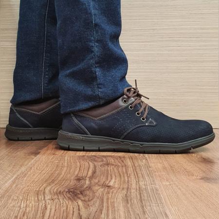 Pantofi Barbati Casual Piele Naturala Negri Aron B000710