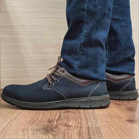 Pantofi Barbati Casual Piele Naturala Negri Aron B000711
