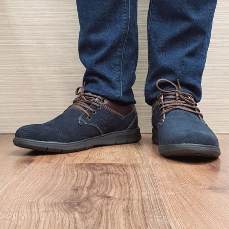 Pantofi Barbati Casual Piele Naturala Negri Aron B000712