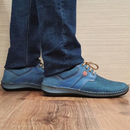 Pantofi Barbati Casual Piele Naturala Bleumarin Otter Alexandrin B000730