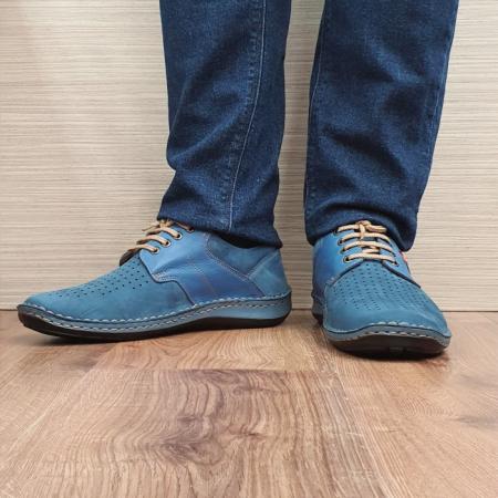 Pantofi Barbati Casual Piele Naturala Bleumarin Otter Alexandrin B000732