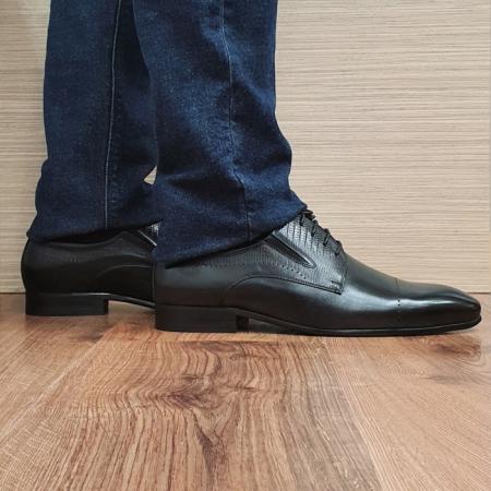 Pantofi Barbati Piele Naturala Negri Amos B000770