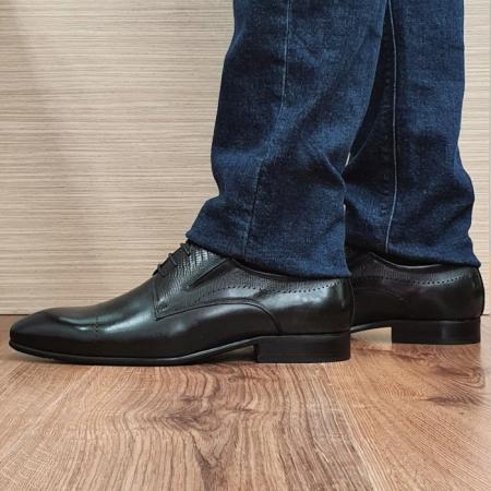 Pantofi Barbati Piele Naturala Negri Amos B000771