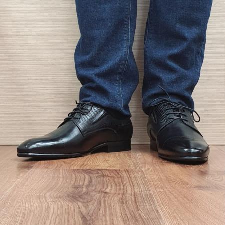 Pantofi Barbati Piele Naturala Negri Amos B000772