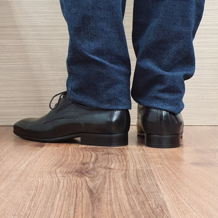 Pantofi Barbati Piele Naturala Negri Amos B000773