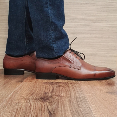 Pantofi Barbati Piele Naturala Maro Amos B000780