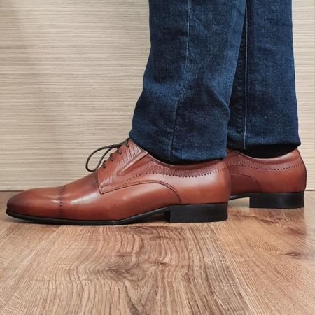 Pantofi Barbati Piele Naturala Maro Amos B000781