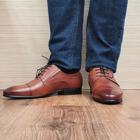 Pantofi Barbati Piele Naturala Maro Amos B000782