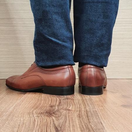 Pantofi Barbati Piele Naturala Maro Amos B000783