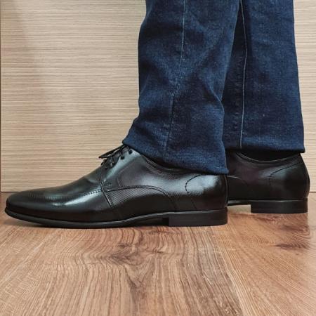 Pantofi Barbati Piele Naturala Negri Achim B000801
