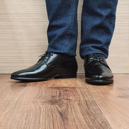 Pantofi Barbati Piele Naturala Negri Achim B000802