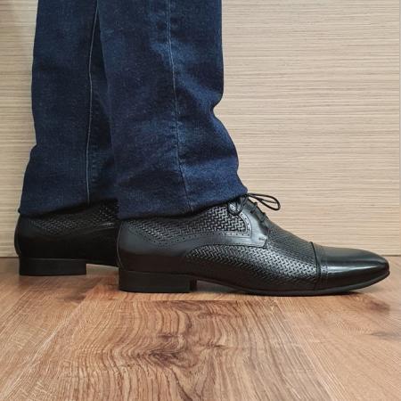 Pantofi Barbati Piele Naturala Negri Andrei B000810