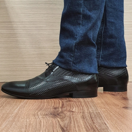 Pantofi Barbati Piele Naturala Negri Andrei B000811