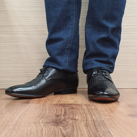 Pantofi Barbati Piele Naturala Negri Andrei B000812