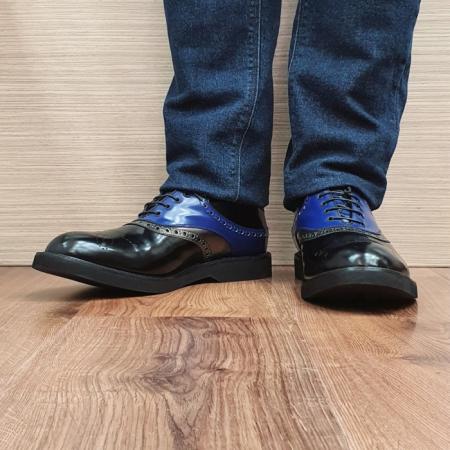 Pantofi Barbati Piele Naturala Negri Alessandro B000822