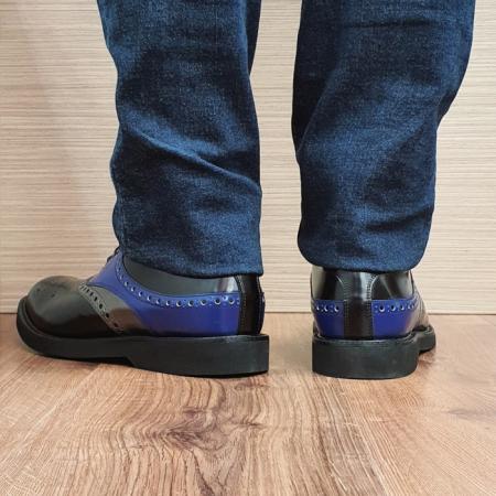 Pantofi Barbati Piele Naturala Negri Alessandro B000823