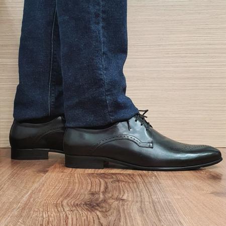 Pantofi Barbati Piele Naturala Negri Corneliu B000830
