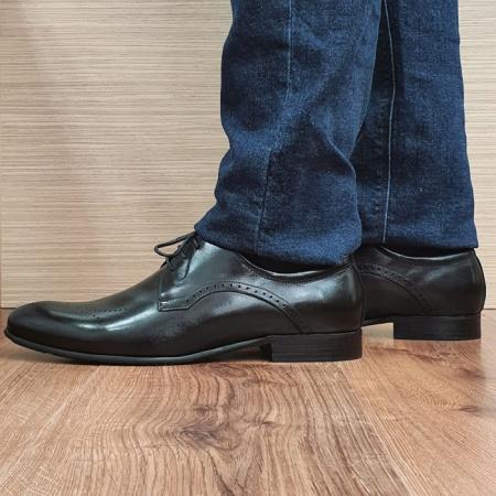 Pantofi Barbati Piele Naturala Negri Corneliu B000831