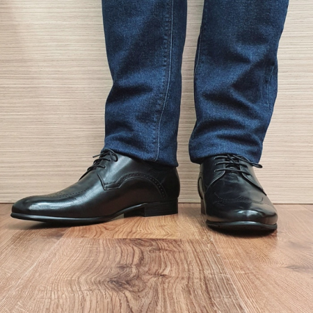 Pantofi Barbati Piele Naturala Negri Corneliu B000832