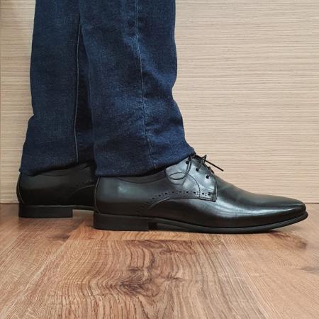 Pantofi Barbati Piele Naturala Negri Cristin B000841