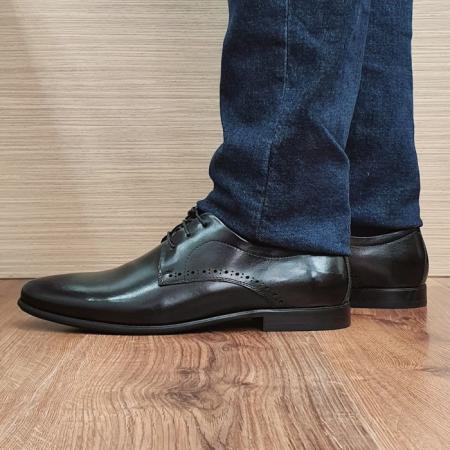 Pantofi Barbati Piele Naturala Negri Cristin B000840
