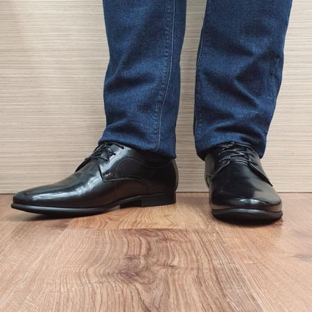 Pantofi Barbati Piele Naturala Negri Cristin B000842