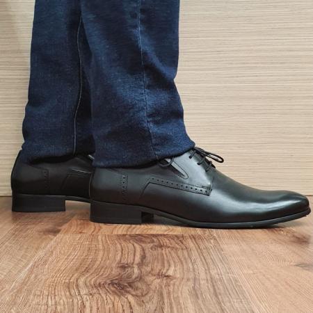 Pantofi Barbati Piele Naturala Negri Casian B000850