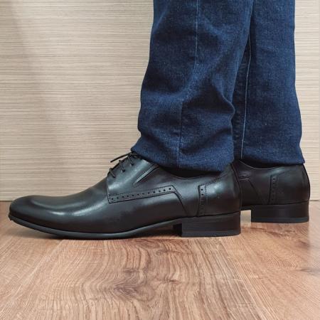 Pantofi Barbati Piele Naturala Negri Casian B000851