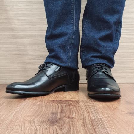 Pantofi Barbati Piele Naturala Negri Casian B000852