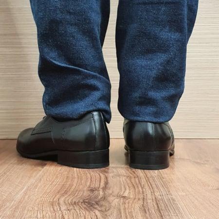 Pantofi Barbati Piele Naturala Negri Casian B000853