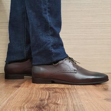Pantofi Barbati Piele Naturala Maro Cirus B000870