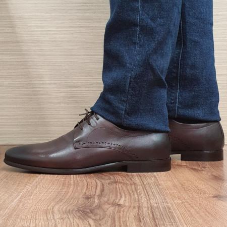Pantofi Barbati Piele Naturala Maro Cirus B000871