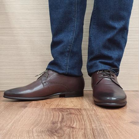 Pantofi Barbati Piele Naturala Maro Cirus B000872