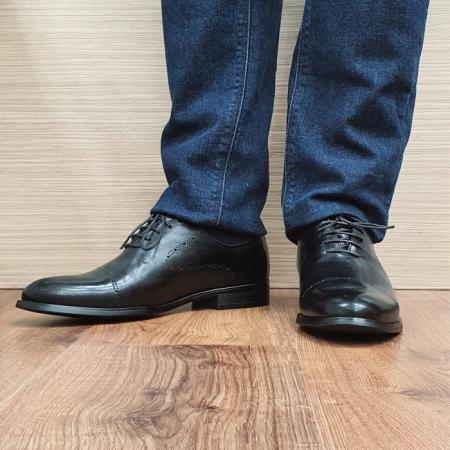 Pantofi Barbati Piele Naturala Negri Darius B000882