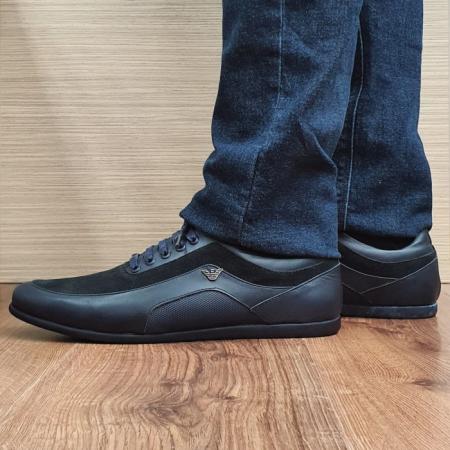 Pantofi Casual Barbati Piele Naturala Bleumarin David B000901