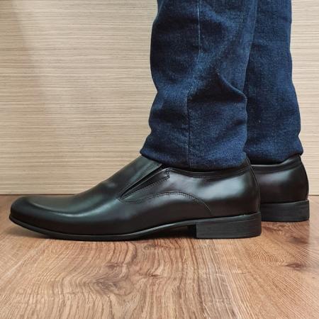 Pantofi Barbati Piele Naturala Negri Ananias B000931