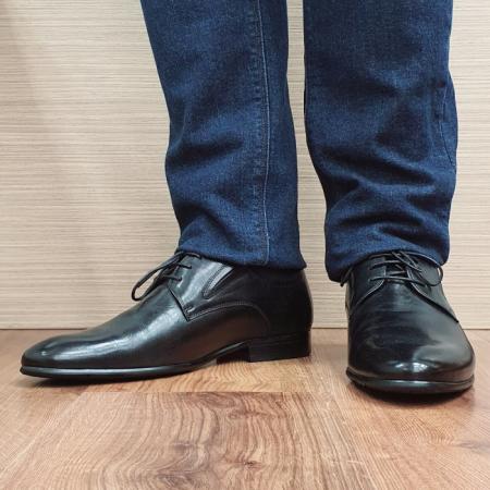 Pantofi Barbati Piele Naturala Negri Cristian B000952