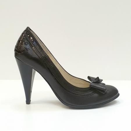 Pantofi cu toc Piele Naturala Negri Moda Prosper Angia D025930