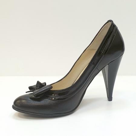 Pantofi cu toc Piele Naturala Negri Moda Prosper Angia D025932