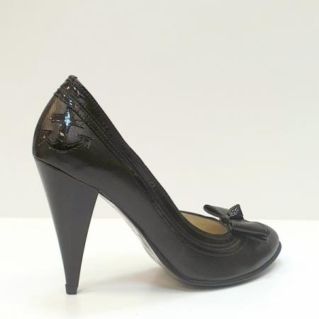 Pantofi cu toc Piele Naturala Negri Moda Prosper Angia D025933
