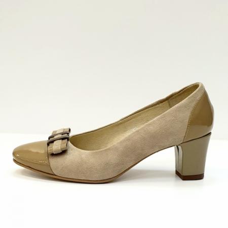 Pantofi cu toc Piele Naturala Bej Corina D026031