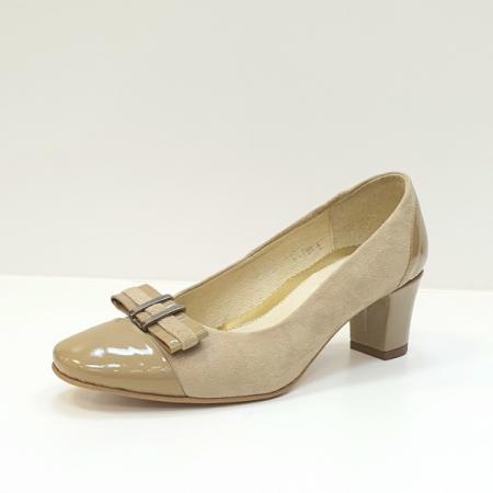 Pantofi cu toc Piele Naturala Bej Corina D026032