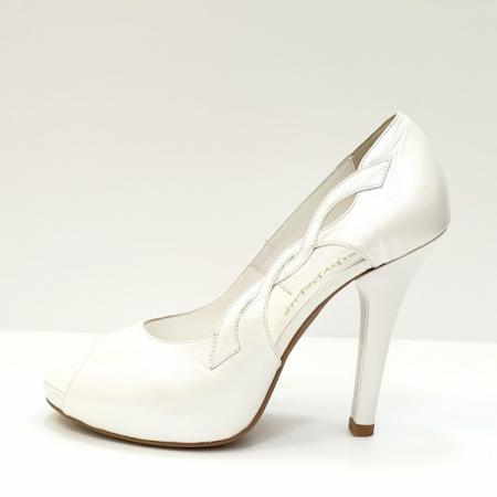 Pantofi Dama Piele Naturala Albi Adana D026051