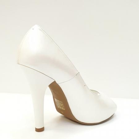 Pantofi Dama Piele Naturala Albi Adana D026053