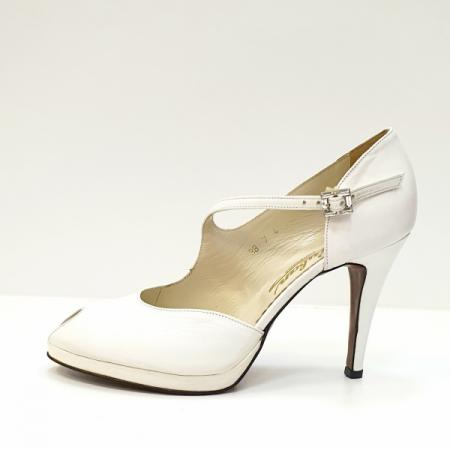 Pantofi Dama Piele Naturala Guban Albi Floria D026081