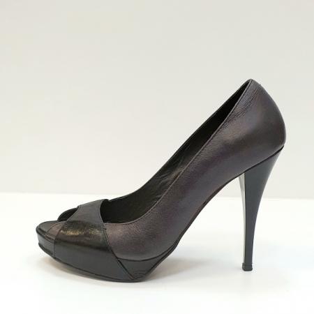Pantofi Dama Piele Naturala Gri Dina D02609 [1]